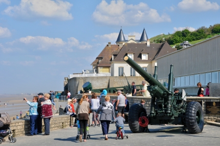 basse normandy: France, the city of Arromanches in Normandie