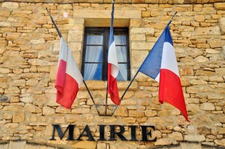 France, l'hôtel de ville pittoresque de Beynac