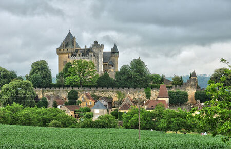 ramparts: France, the picturesque castle of Montfort in Vitrac