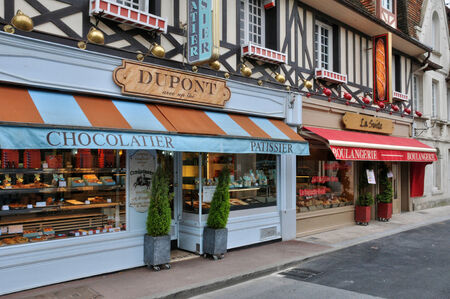France, bakery in the city of Dives sur Mer