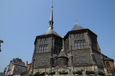 catherine: France, the Sainte Catherine church of Honfleur in Normandie Stock Photo