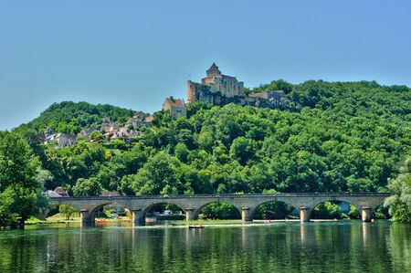 France, the picturesque castle of Castelnaud in Dordogne