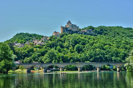 Frankrijk, het pittoreske kasteel van Castelnaud in Dordogne
