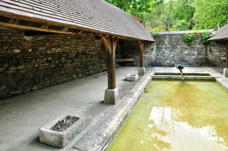 washhouse:  Ile de France, washhouse in the village of Follainville Dennemont in les Yvelines
