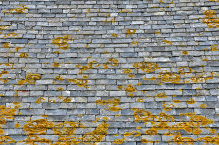 bretagne: France, old slates on a roof in Saint Malo in Bretagne