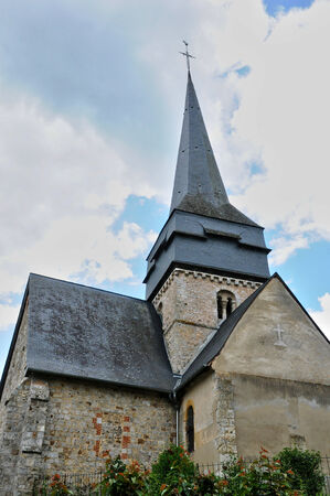 ry: France, the historical church of Ry in Normandie Stock Photo