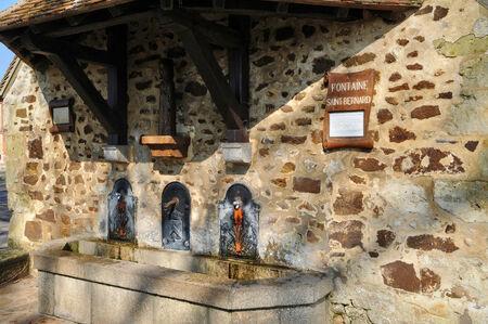 saint bernard: France, the Saint Bernard fountain in Soligny la Trappe