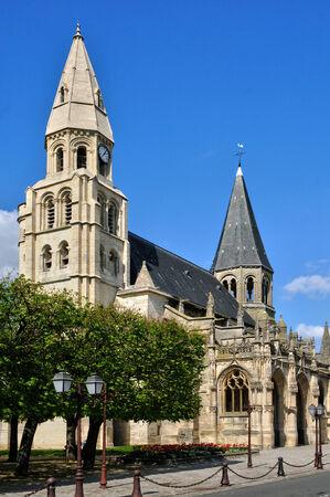 collegiate: France, the picturesque collegiate church of Poissy