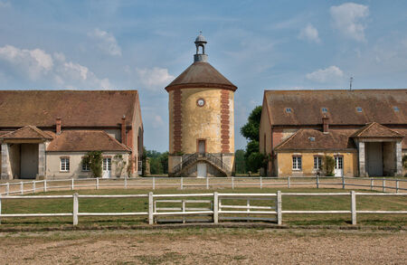 sheepfold: France, the picturesque Bergerie Nationale of Rambouillet