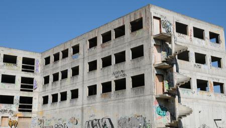 les: France, destroyed building in les Mureaux in Les Yvelines