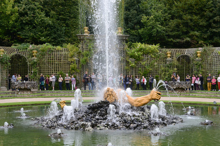 enceladus: Ile de France, Enceladus Grove in the park of  Versailles Palace