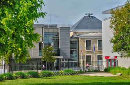 les: France, the city hall of les Mureaux in Les Yvelines   Editorial