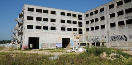 sordid: France, destroyed building in les Mureaux in Les Yvelines