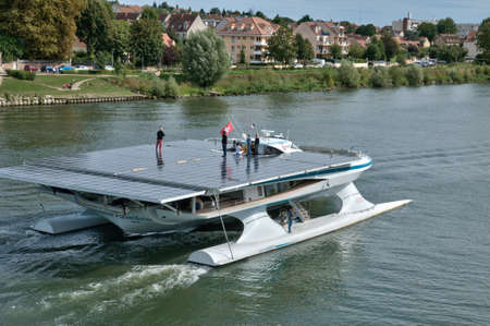 pannel: Planetsolar, the most important solar boat in the world