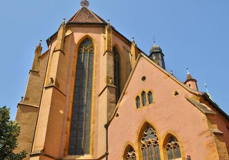 haut: France, the saint Matthieu church of Colmar in Haut Rhin Stock Photo