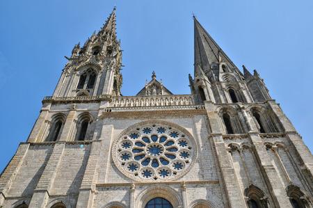 France, la cathédrale de Chartres en Eure et Loir