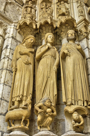 et: France,  the Chartres cathedral in  Eure et Loir