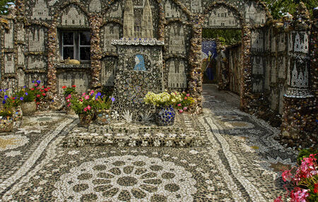 chartres: La Maison Picassiette, an old house decorated earthenware mosaic in Chartres