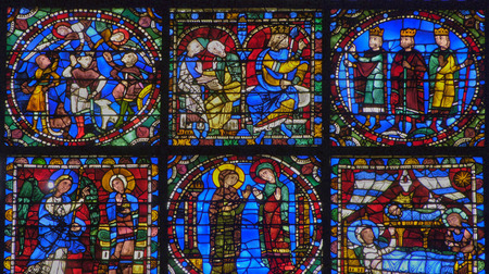 chartres: France,  the Chartres cathedral in  Eure et Loir