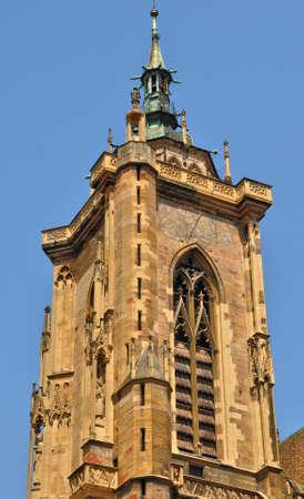 haut: France, the collegiate church Saint Martin of Colmar in Haut Rhin