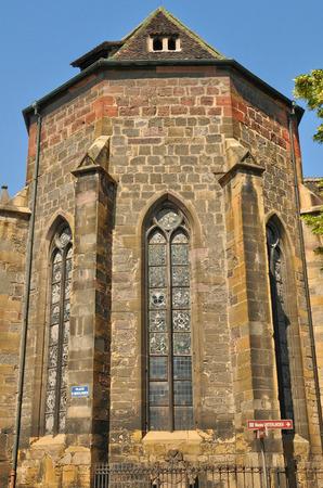 haut rhin: France, Unter Linden museum in the city of Colmar in Haut Rhin