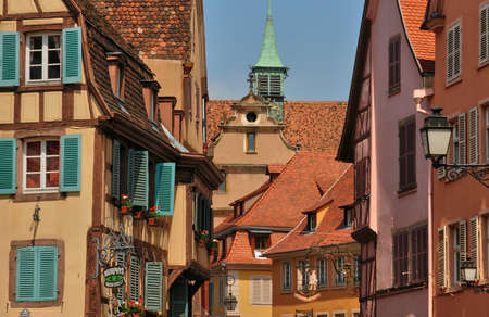 colmar: France, the picturesque city of Colmar in Haut Rhin