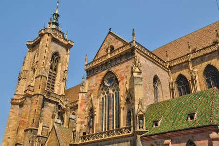 haut rhin: France, the collegiate church Saint Martin of Colmar in Haut Rhin