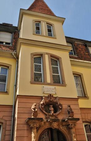haut rhin: Francia, Bartholdi museo en la ciudad de Colmar en Haut Rhin Foto de archivo