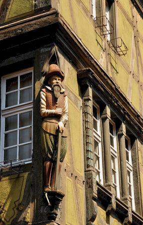 haut rhin: Francia, el picturesquemaison Pfister en la ciudad de Colmar en Haut Rhin