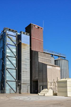 contryside: Ile de France, a silo in the village of Epiais Rhus  Editorial