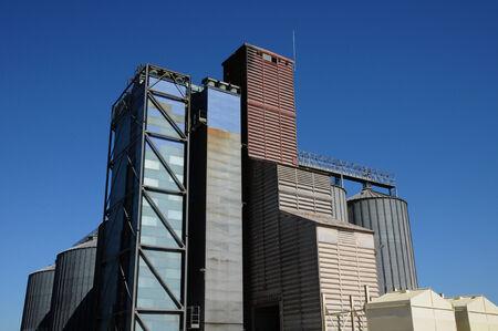 contryside: Ile de France, a silo in the village of Epiais Rhus  Stock Photo