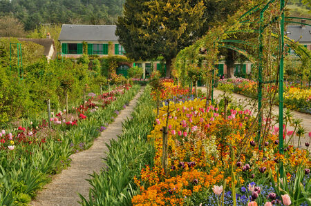 monet: France, the Monet house in Giverny in Normandie Editorial