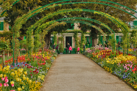 France, the Monet house in Giverny in Normandie Stock fotó