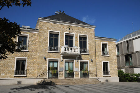 municipality: Ile de France, the city hall of Les Mureaux Stock Photo