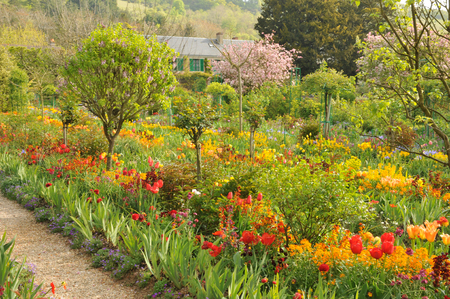 monet: France, the Monet house in Giverny in Normandie Stock Photo