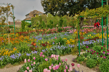 France, the Monet house in Giverny in Normandie 版權商用圖片