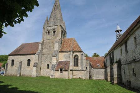 Ile de France, the church of Gadancourt in Val d Oise Stock Photo - 28280663