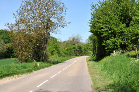 Ile de France, country road in Seraincourt in Val d Oise Stock Photo - 28280679