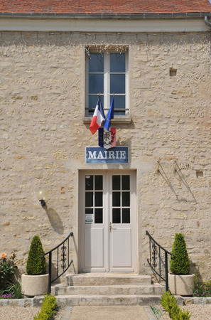 Ile de France, the city hall of Guiry en Vexin in Val d Oise Stock Photo - 28280702