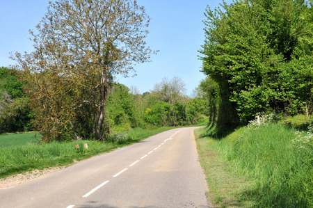 Ile de France, country road in Seraincourt in Val d Oise Stock Photo - 28280761