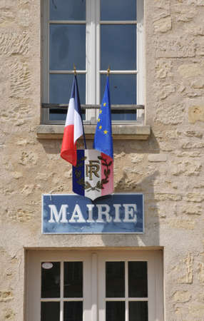 Ile de France, the city hall of Guiry en Vexin in Val d Oise Stock Photo - 28280766
