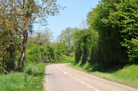 Ile de France, country road in Seraincourt in Val d Oise Stock Photo - 28280778