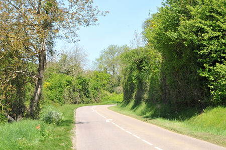 Ile de France, country road in Seraincourt in Val d Oise Stock Photo - 28280788
