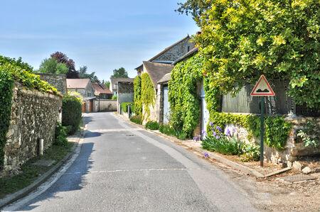 Ile de France, the picturesque village of Fremainville in Val d Oise Stock Photo - 28280884
