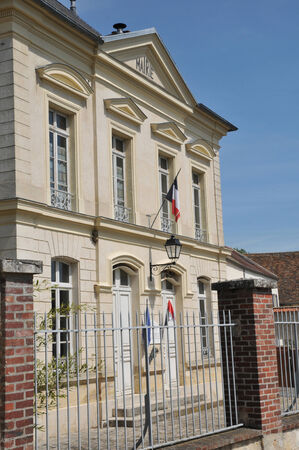 Ile de France, the city hall of Themericourt in Val d Oise Stock Photo - 28281137