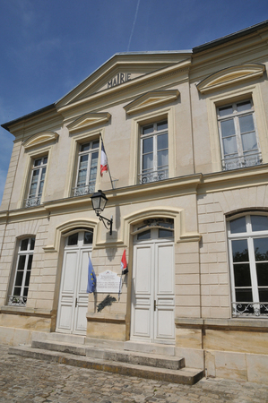 Ile de France, the city hall of Themericourt in Val d Oise Stock Photo - 28281140