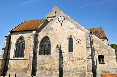 Ile de France, the church of Seraincourt in Val d Oise Stock Photo - 28281205