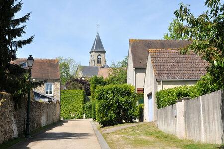 Ile de France, the picturesque village of Fremainville in Val d Oise Stock Photo - 28281319
