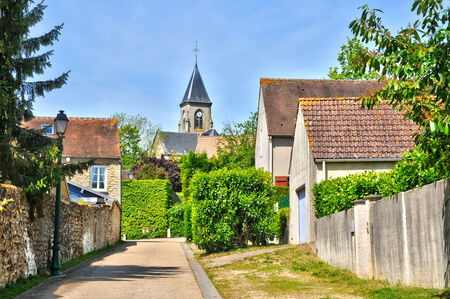 Ile de France, the picturesque village of Fremainville in Val d Oise Stock Photo - 28281346