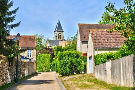 Ile de France, the picturesque village of Fremainville in Val d Oise Stock Photo - 28281346